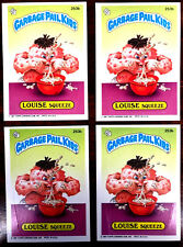 1987 GARBAGE PAIL KIDS GPK ~ SQUEEZE LOUISE #253b ~ LOT OF 4 CARDS = TWO PAIRS