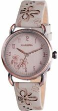 Ladies Kahuna Floral Strap Watch With Round Dial Kls-0254l