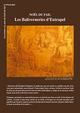 Edition les Baliverneries d'Eutrapel, Noël du Fail, brochure 48 pages, illustrée