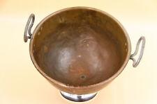 Kupferkessel Durchmesser 30 cm, mit Patina aus Bäckereiauflösung