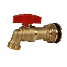 """RBS015 Rain Barrel 3/4"""" Brass Ball Spigot/Faucet/Valve w/ Bulkhead Fitting 5GPM"""