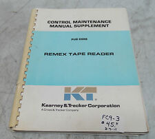 Kearney & Trecker Control Maintenance Manual Supplement, Pub 688B_Make Offer_