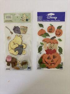 Disney Jolee's Boutique Dimensional Stickers, Pooh in a Pumpkin Halloween LOT
