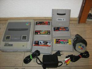 Super Nintendo Konsole mit 5 Spielen und Game Boy adapter