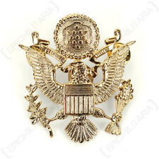 US Army Officer Visor Cap Badge - Ww2 Repro