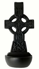 "Celtic Cross Holy Water Font 6"" (T27) - Island Turf Crafts"