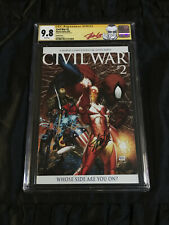 Marvel Civil War #2 Retailer Incentive Variant Cover CGC 9.8 SIGNED by STAN LEE!