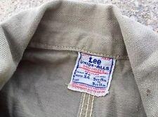 Vtg. 50s Lee Union-Alls Military Hbt Herringbone Sanforized Coveralls Jumpsuit.