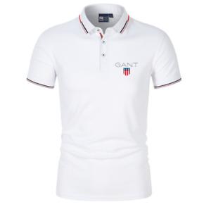 GANT Herren Polo T-Shirt Basic Kurzarm Sommer Atmungsaktives Poloshirt Neu S-4Xl