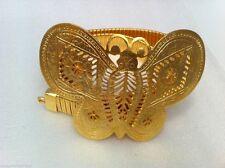 Kenneth Jay Lane Butterfly satin gold chain belt