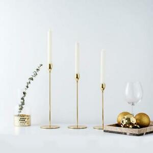 Tulip Nordic Candlesticks Golden Candlestick Candle Holders Table Decor G2S1