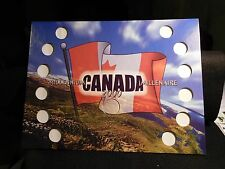 CANADA :2000  MILLENNIUM  25 CENT SOUVENIR FLAG of CANADA  HOLDER  (#3)