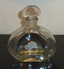 F. MILLOT CREPE DE CHINE RARE EMPTY PERFUME BOTTLE EMBOSSED FLORAL DESIGN 5 7/8""