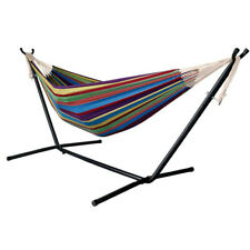 9 Ft Portable Heavy-Duty Steel Hammock Stand and Hammock w/Carrying Case Gift
