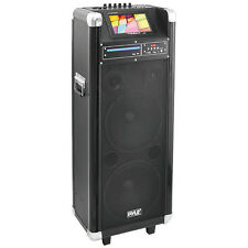 "Pyle PKRK210 10""X2 Portable Pa Speaker With DVD 7""Screen"