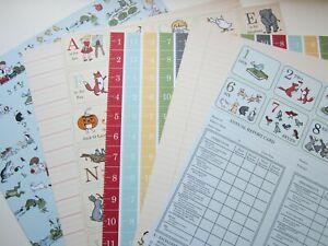 Stampin up Papier paper schule ABC Alphabet englisch Zahlen Tiere scool