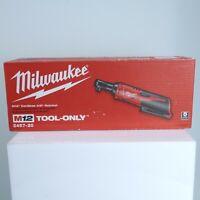 "Brand New Milwaukee 2457-20 M12 Cordless 3/8"" Ratchet Tool"
