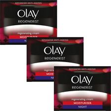 3 Olay Regenerist Regenerating Moisturiser AntiAgeing Night Cream Hydrating 50ml