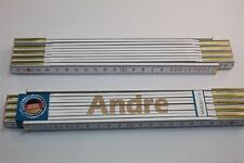 Zollstock mit Namen     ANDRE   Lasergravur 2 Meter Handwerkerqualität