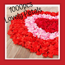 1000 pcs Red Silk Rose Flower Petals Wedding Confetti Engagement Romantic Celeb