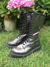 Dr Martens Pascal Pewter 14 Hole Boots UK 5