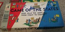 Vintage 1954 Milton Bradley Game Of The States Board Game