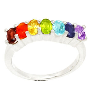 Healing Chakra 925 Sterling Silver Ring Jewelry s.9 SSS CP143