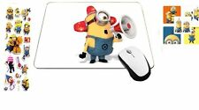 Mousepad Warning Emergency Minions Mouse Pad with 3-D Stickers + Sticker, MP430