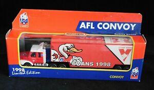 1998 Sydney Swans AFL Convoys  Matchbox truck footy model NIB limited edition
