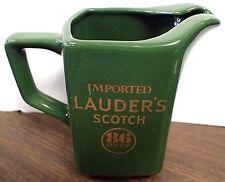 Vintage Lauder's Scotch Water Pub Bar Jug Pitcher Kingwood Usa