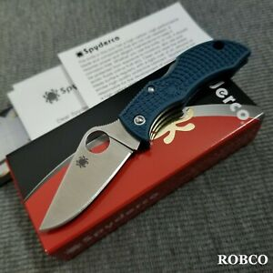 Spyderco Manbug K390 Blade Blue FRN Handles MFPK390