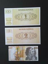 SET Slovenia UNC Private Issue 10;20;50;100;200;500 Talerjev 2007