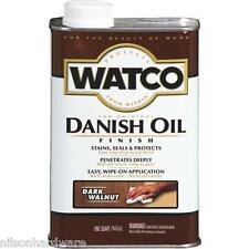 1 Qt Dark Walnut Watco Interior Wood Cabinet Furniture Danish Oil Finish A65841