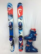 Kids Ski Package, Head Souphead 87 cm Skis, look team 4 Bindings, Lange  Boots