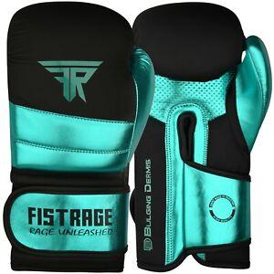 FISTRAGE Boxing Gloves Metallic Leather MMA Training Muay Thai Kick Boxing Mitts