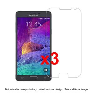 3x Samsung Note 4 Anti-Scratch Screen Protector w/ cloth