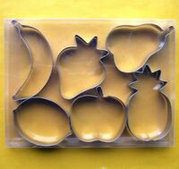 Fruit Strawberry Pineapple Pear Banana Lemon Apple cookie cutter Steel Set