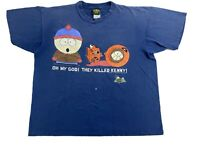 Vintage 90s South Park Comedy Central They Killed Kenny T Shirt Mens XL 1997