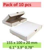 White Carton box (HIGH QUALITY Packaging Postal Mailing small Cardboard), 10 pcs