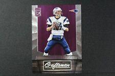 Tom Brady 2016 Elite Craftsmen Purple Parallel Insert Card 44/49 Patriots