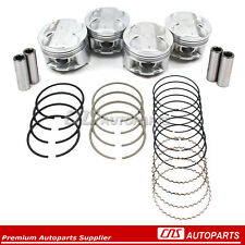 Engine Pistons +Ring Set Honda Civic & Del Sol 1.6L DOHC VTEC B16A2 B16A3