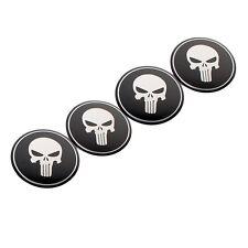4x Car SUV Pickup Wheel Center Caps Hub Rim Skull Cover Sticker 56mm New