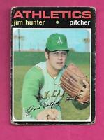 1971 TOPPS # 45  ATHLETICS JIM HUNTER GOOD  CARD (INV# A8110)