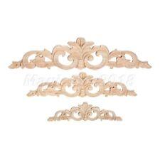 1pc Wood Carving Decal Wall Door Onlay Applique Elegant Corner Decal 20/30/40cm