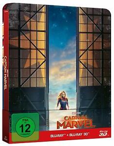 Captain Marvel (Limited Steelbook)[3D + 2D Blu-ray/NEU/OVP] 2019