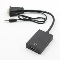 1080P VGA Male To HDMI Output HD+ Audio TV AV HDTV Video Cable Converter Adapter