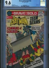 CGC 9.6 BRAVE AND THE BOLD #102 CR TO O/W PGS NEAL ADAMS TEEN TITANS ART