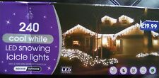 8 Functions Snowing LED Icicle Christmas Decor Lights indoor/outdoor use 240pk