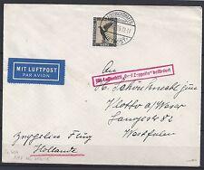 33# Zeppelinbrief Mi 384 EF Abwurf Amsterdam, Hollandfahrt 1929