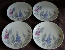 Four (4) Pristine Vintage Castleton China Wisteria Dinner Plates